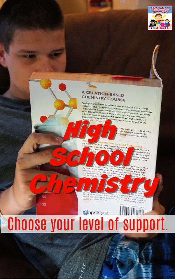 High School chemistry with Apologia choose your level of support