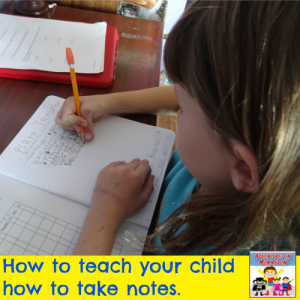 How to teach your child to take notes