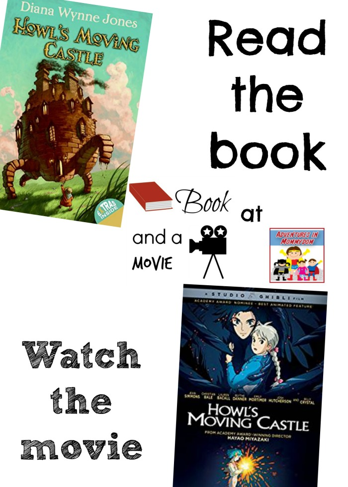 Howl's Moving Castle book and a movie