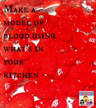 How to make a model of blood using what's in your kitchen