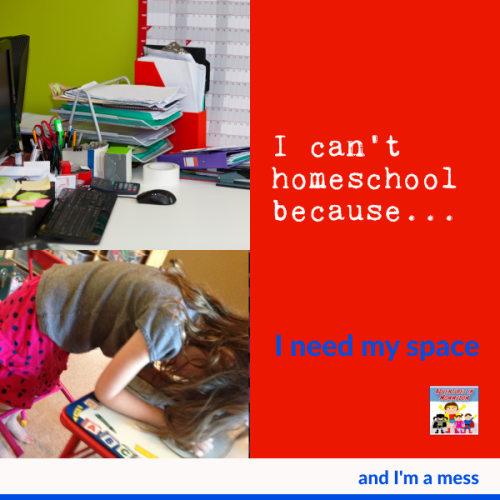 I can't homeschool because I want my space