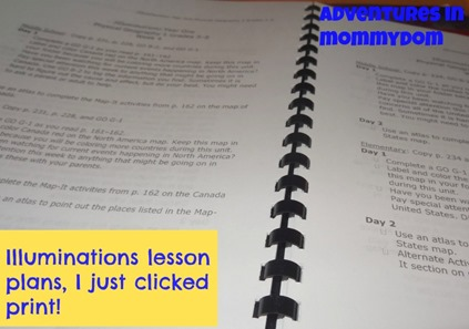 Illuminations lesson plans