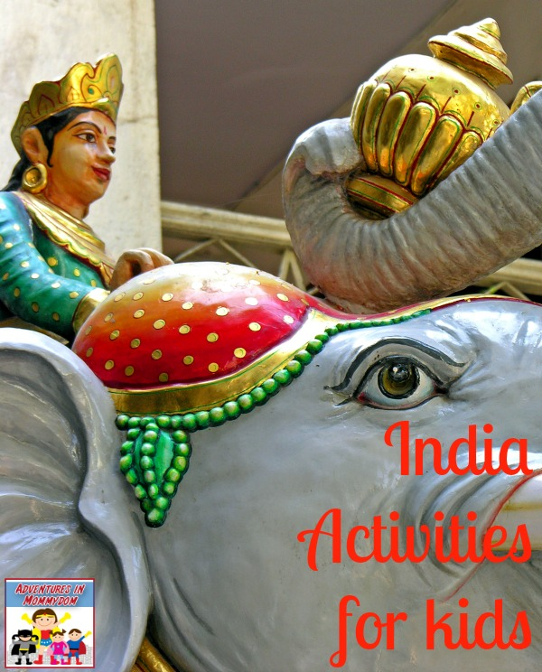 India unit activities for kids to learn