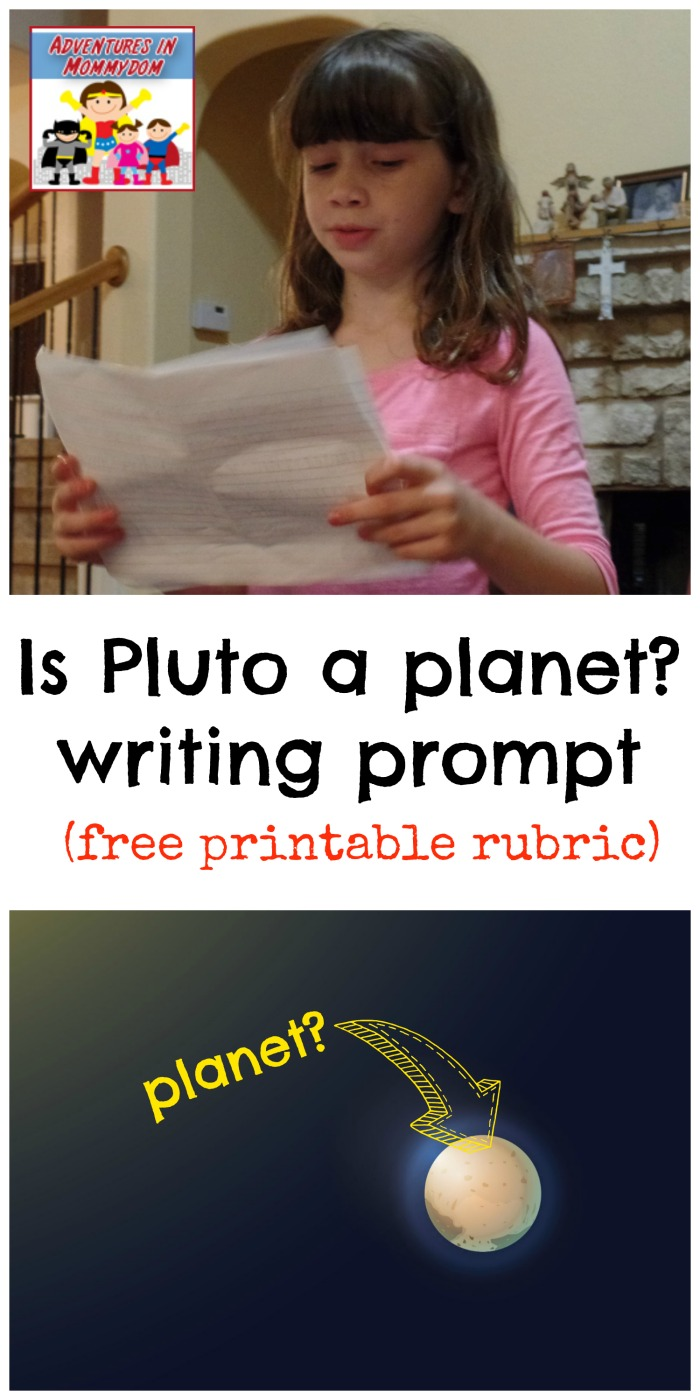 Is Pluto a planet writing prompt