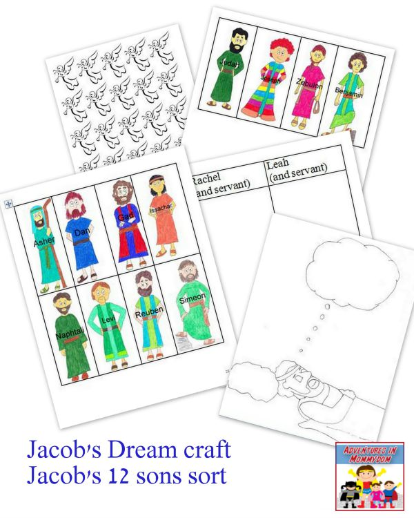 Jacob Dream craft and 12 sons sort