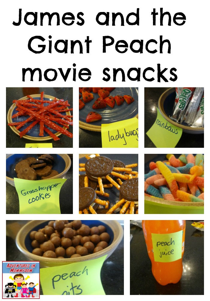 James and the Giant Peach movie snacks