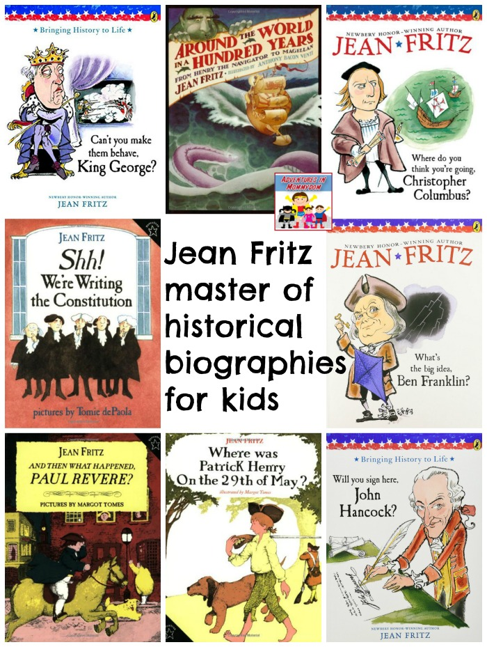 Jean Fritz history books for kids