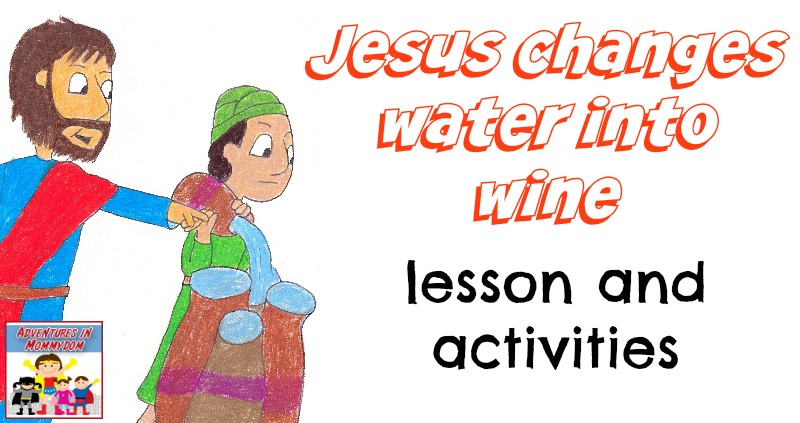 Jesus Changes Water Into Wine Craft And Lesson
