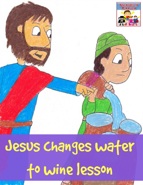 JESUS TURNS THE WATER INTO WINE Bible Story Coloring Pages   645x500