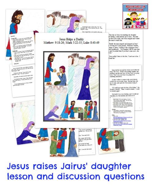 Jesus raises Jairus' daughter lesson, great lesson on faith