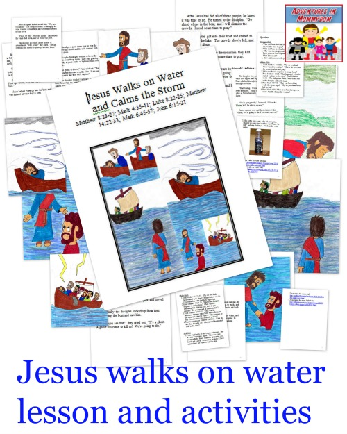 Jesus walks on water Bible lesson