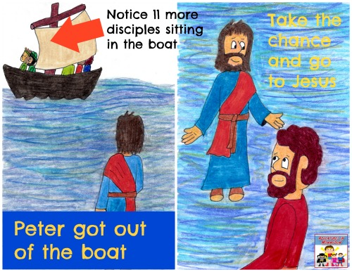 Jesus walks on water lesson application