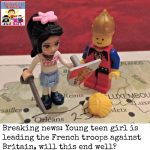 Joan of Arc history lesson with legos
