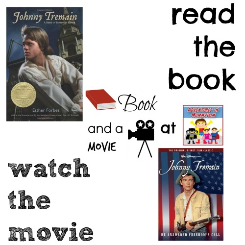 Johnny Tremain book and a movie feature