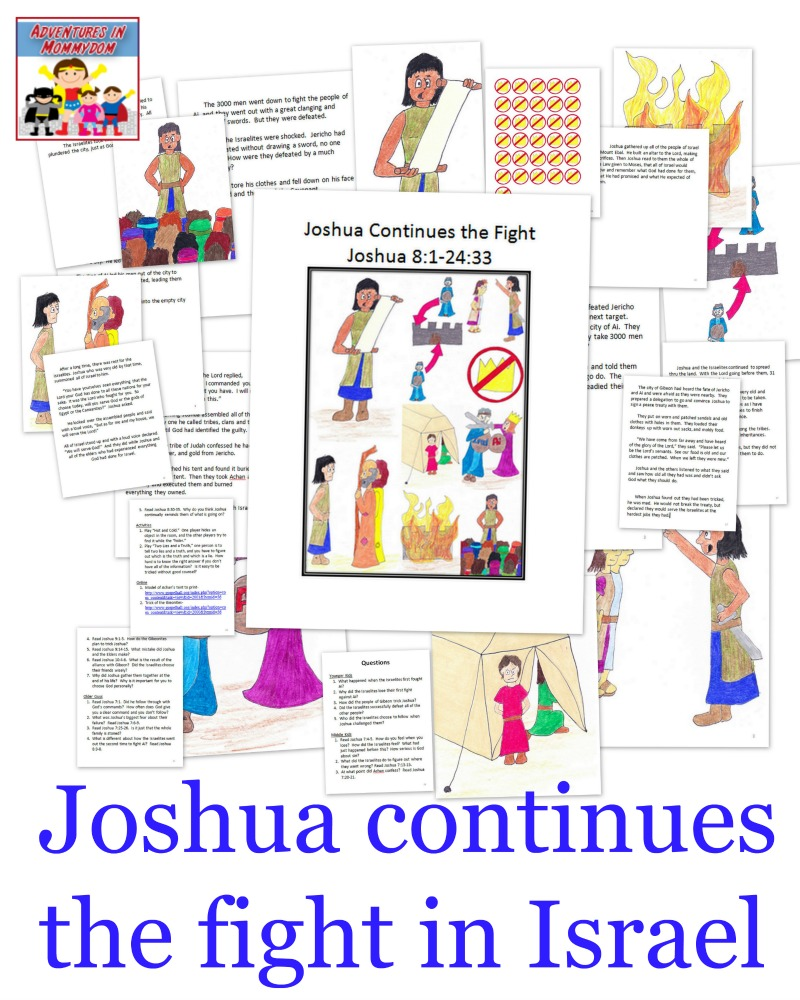 Joshua continues the fight in Israel Sunday School lesson