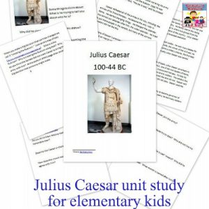 Julius Caesar printable unit study for elementary kids