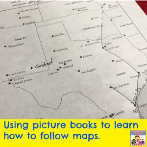 Kate heads west geography lesson part 2 picture book mapping lesson