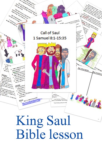 King Saul Bible lesson printable