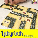 Labyrinth tile laying game card game gameschooling