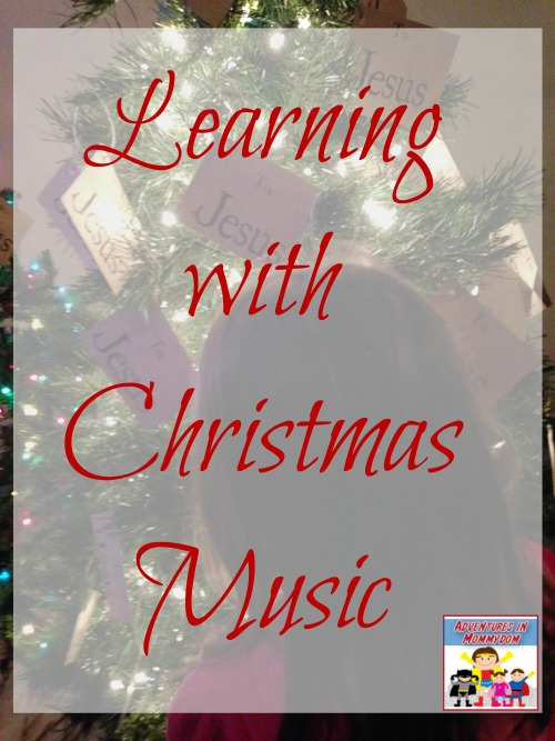 learning with Christmas music