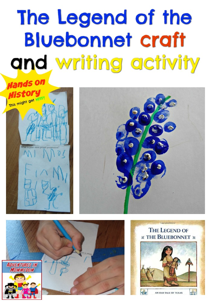 Legend of the Bluebonnet craft and writing activity