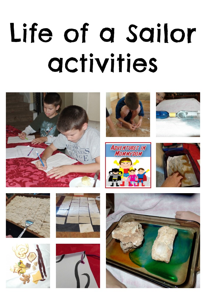 Life of a Sailor activities Explorers unit
