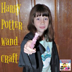 How to make a Harry Potter wand with supplies in your house