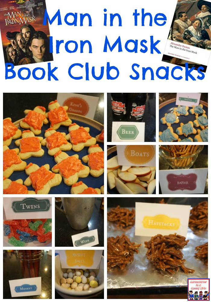Man in the Iron Mask book club snacks