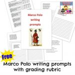 Marco Polo writing prompts and rubric