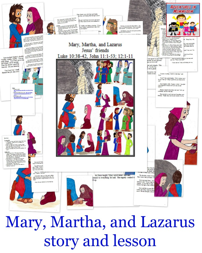 Mary, Martha, and Lazarus story and lesson