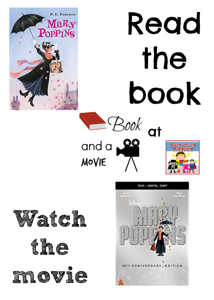 Mary Poppins book and a movie