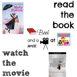 Mary Poppins book and a movie feature copy 7th