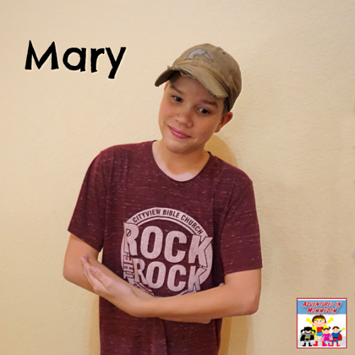Mary for the Christmas story minute to win it game
