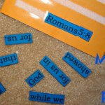 Memory verse puzzles for you to make with your kids