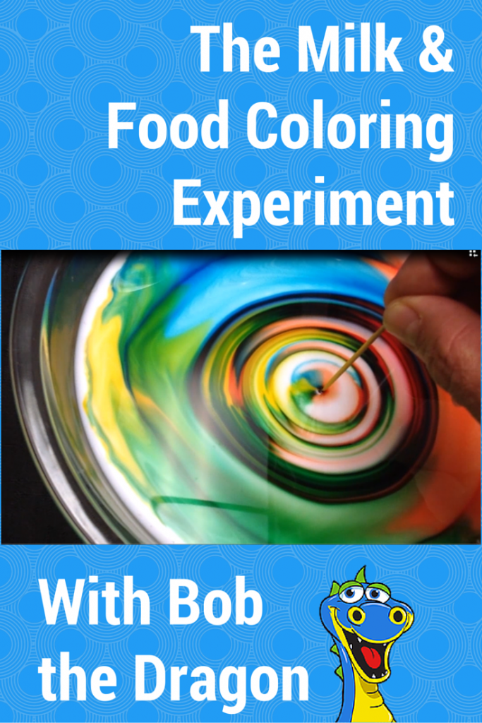Color changing milk experiment