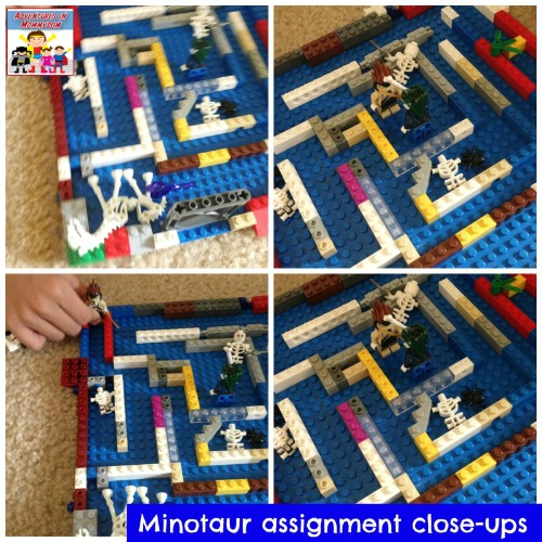 Minotaur lego maze part of our ancient minoan unit