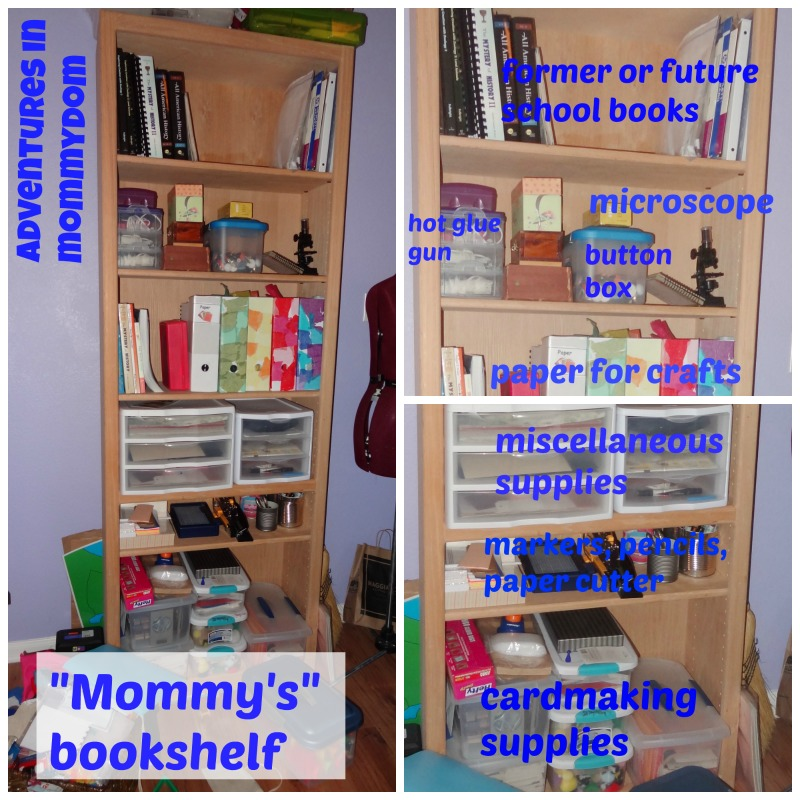 Mommy bookshelf area for independent learners