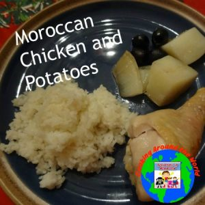 Moroccan chicken and potatoes