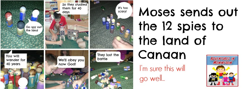 Moses sends the 12 spies into the land of Canaan lesson
