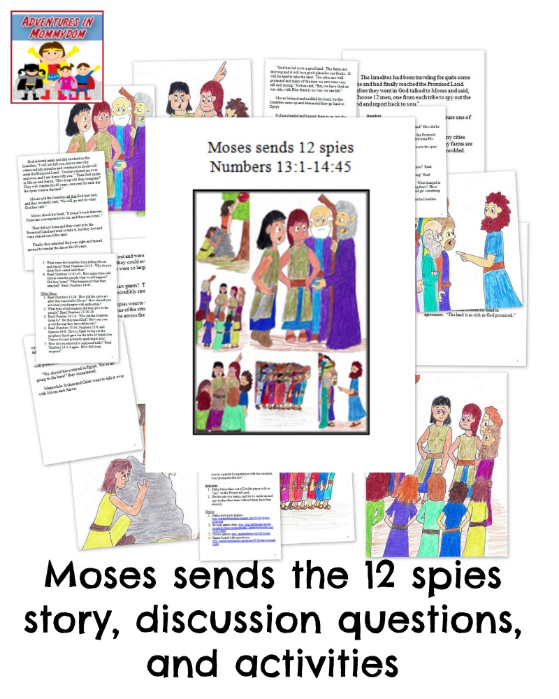 Moses sends the 12 spies lesson