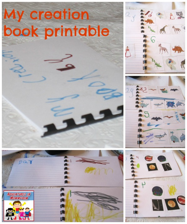My creation book printable for creation story game