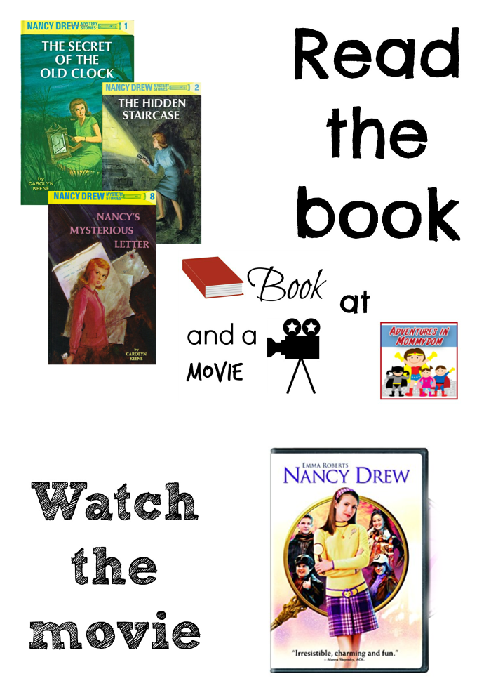 Nancy Drew book and a movie night