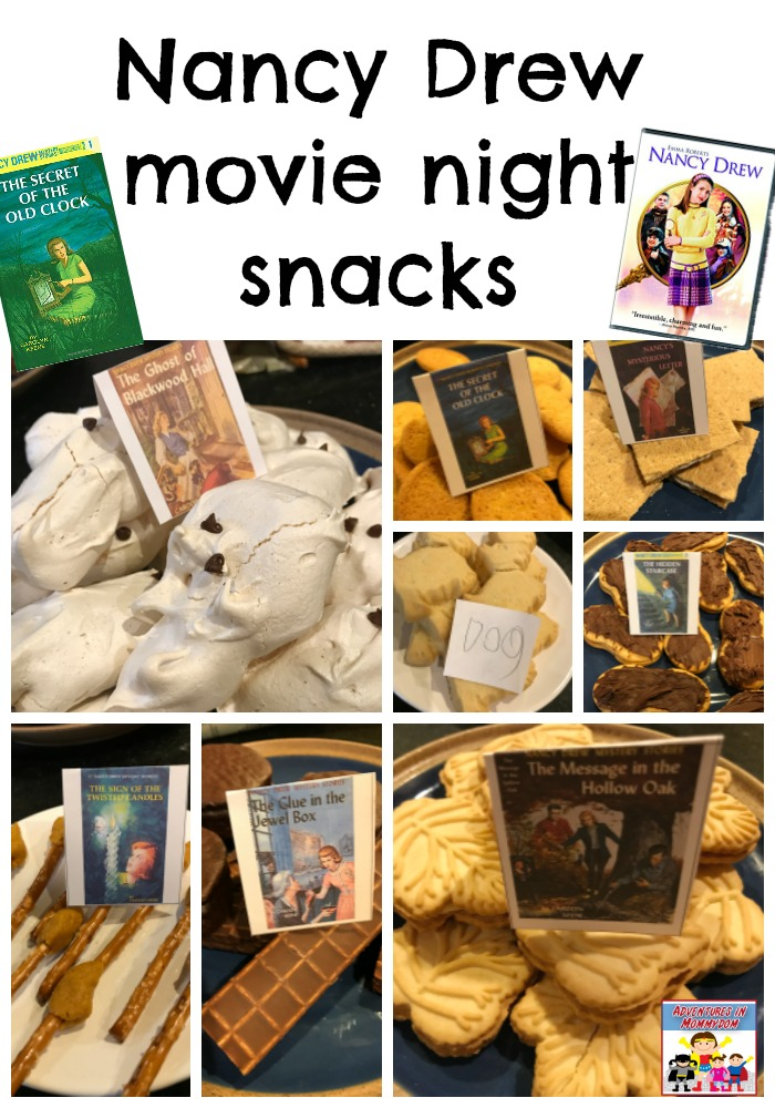 Nancy Drew movie night snacks