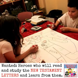 New Testament letters lesson for elementary and preschool