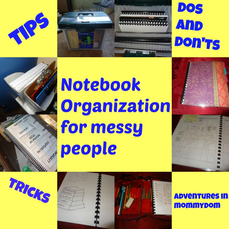 notebook organization for messy people