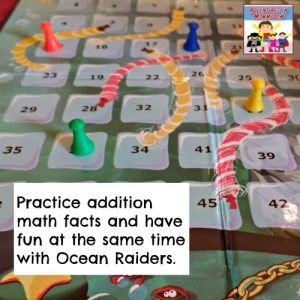 Practice math addition facts with this fun game