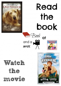 Old Yeller book and a movie night