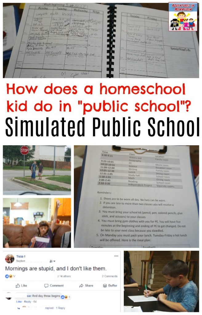 Our week of simulated public school