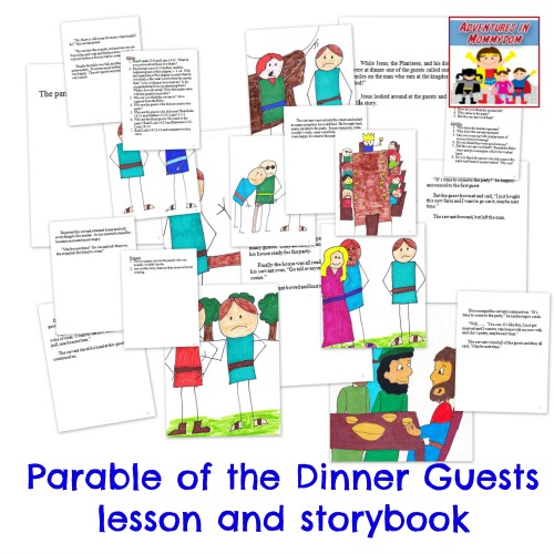 Parable of the dinner guests lesson and storybook