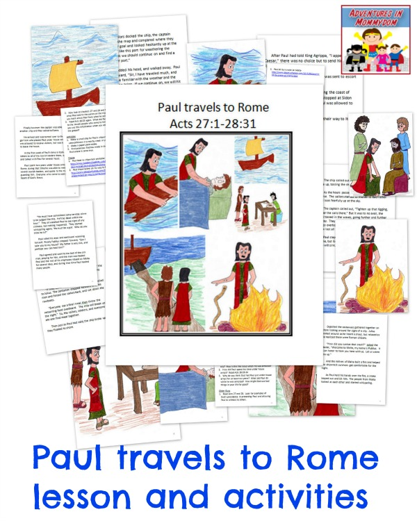 Paul's journey to Rome lesson